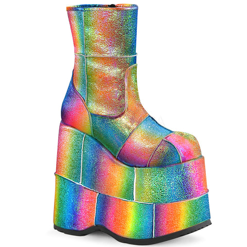Demonia STACK 201 Boots Rainbow | Angel Clothing