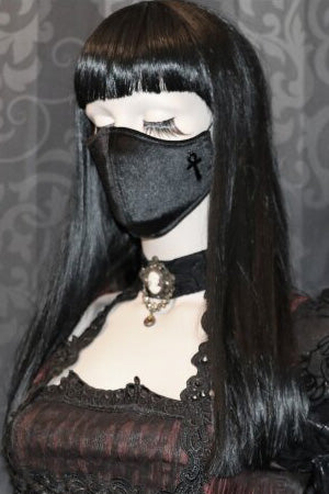 Gothic Girl Neoprene Face Mask | Angel Clothing