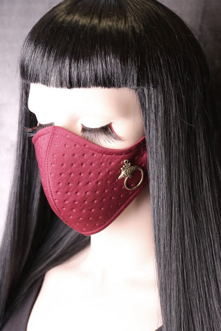 Burgundy Birdy Neoprene Face Mask | Angel Clothing