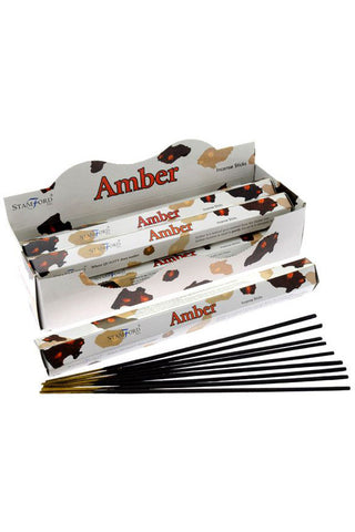 Stamford Premium Hex Range Incense Sticks Amber | Angel Clothing