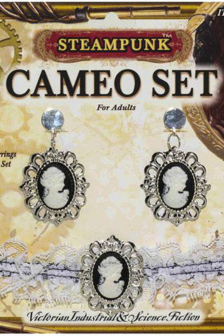 Steam Punk Necklace Set Cameo | Angel Clothing