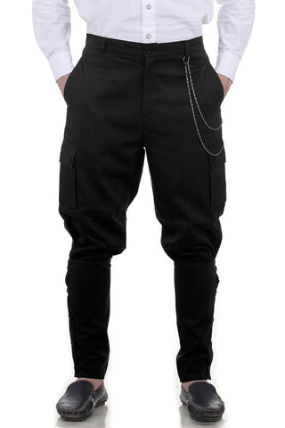 Steampunk Airship Pants Black - Angel Clothing