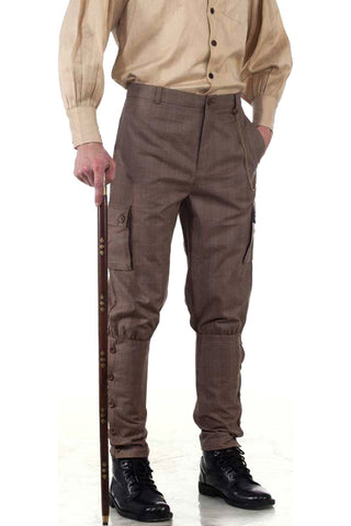 Steampunk Airship Pants Checkered - Angel Clothing