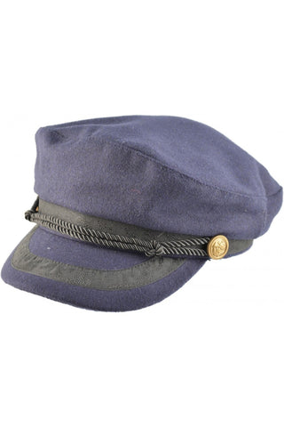 Steampunk Captains Breton Cap Navy Blue | Angel Clothing