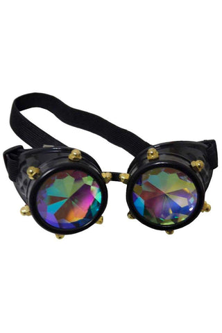 Steampunk Crystal Vision Goggles with Kaleidoscopic Lenses | Angel Clothing