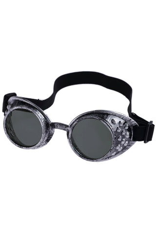 Victorian Industrial Steampunk Goggles Antique Silver | Angel Clothing