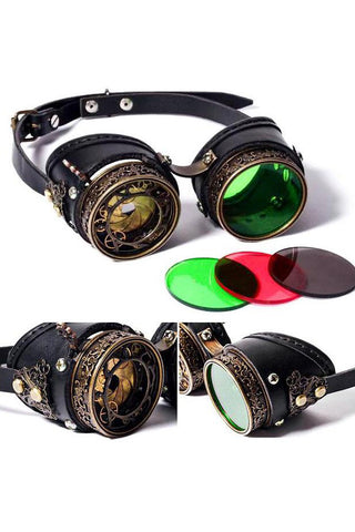 RQBL Steampunk Goggles SP068 | Angel Clothing