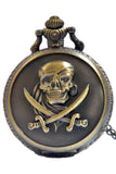 Steampunk Pirate Pocket Watch Brass | Angel Clothing