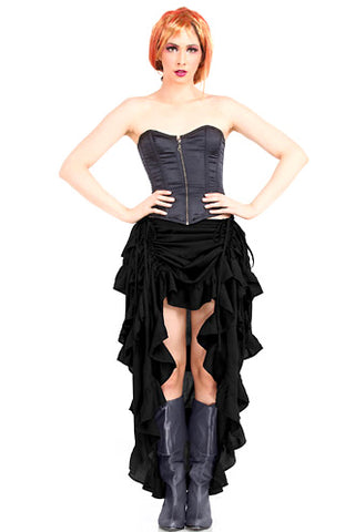 Steampunk Show Girl Skirt Black | Angel Clothing