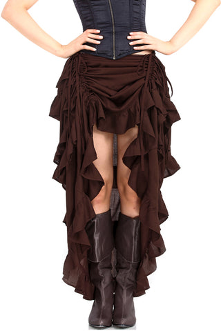 Steampunk Show Girl Skirt Brown | Angel Clothing