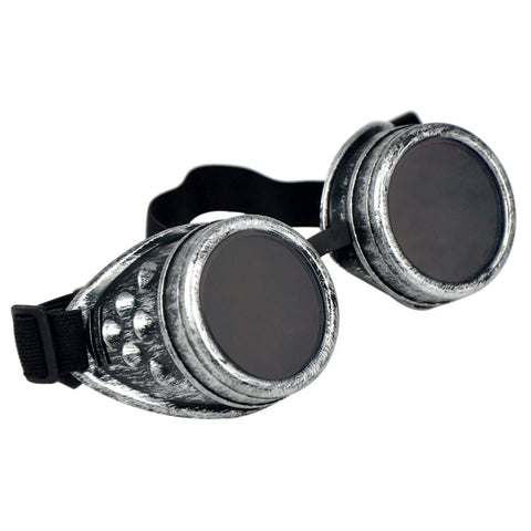 Steampunk Victorian Industrial Sci Fi Goggles Antique Silver | Angel Clothing