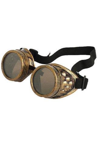 Steampunk Goggles Brass | Angel Clothing