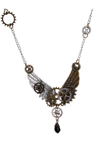 Steampunk Wings Necklace | Angel Clothing