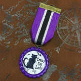 Crazy Cat Lady Steampunk Medal | Angel Clothing
