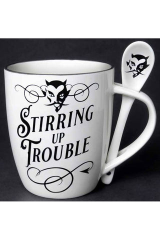 Alchemy Stirring up Trouble Mug and Spoon Set | Angel Clothing