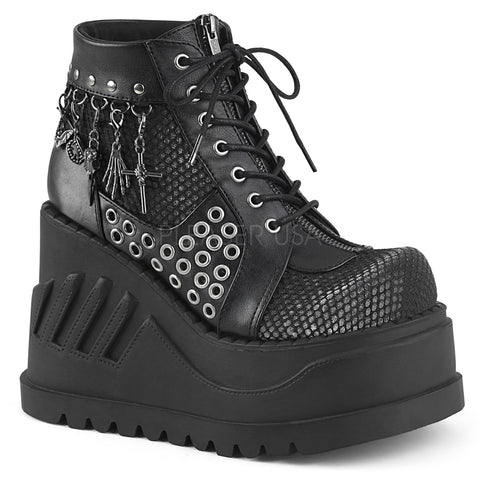Demonia STOMP-18 Shoes Black | Angel Clothing