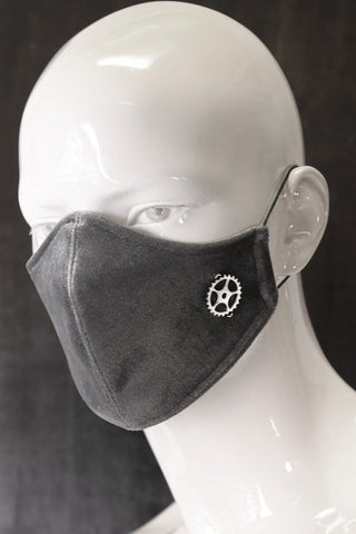QuickSilver Grey Velvet Neoprene Face Mask | Angel Clothing