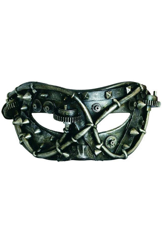 Cyber Mask, Studded Facade, Steampunk Masquerade Mask | Angel Clothing