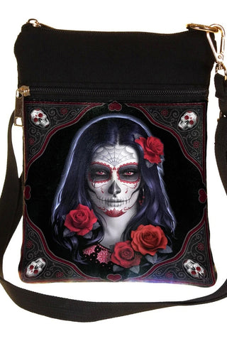 Sugar Skull Day of the Dead Shoulder Bag | Angel Clothing