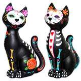 Sugar Skulls Kitty / Day of the Dead Cat with Triple Heart Decoration | Angel Clothing