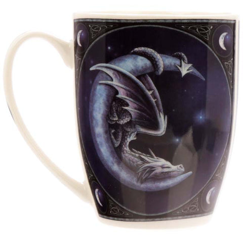 Sweet Dreams Dragon and Moon Mug by Lisa Parker. - Angel Clothing