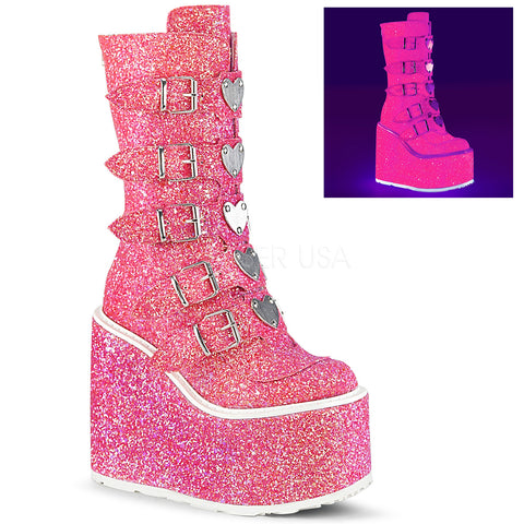 Demonia SWING 230G Boots Pink | Angel Clothing