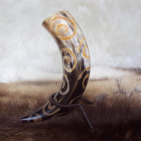 Swirl Drinking Horn With Rack - Angel Clothing