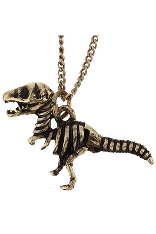 T-Rex Dinosaur Skeleton Necklace | Angel Clothing