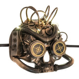 The Dark Baron Half Face Steampunk Mask with LED Lights | Angel Clothing