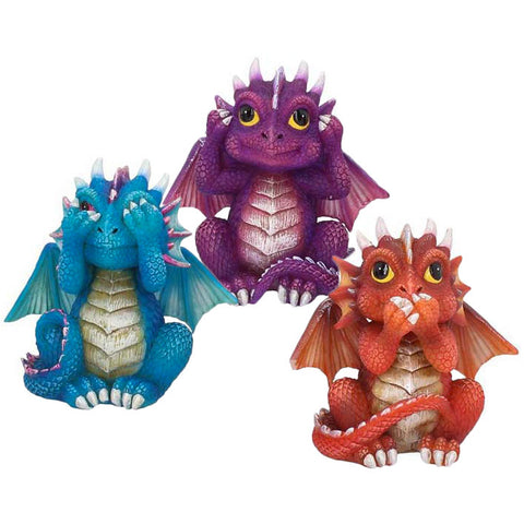 Three Wise Dragonlings 8.5cm | Angel Clothing