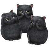Three Wise Fat Cats 8.5cm - Angel Clothing