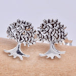 Seventh Sense Tree of Life Stud Earrings Silver | Angel Clothing