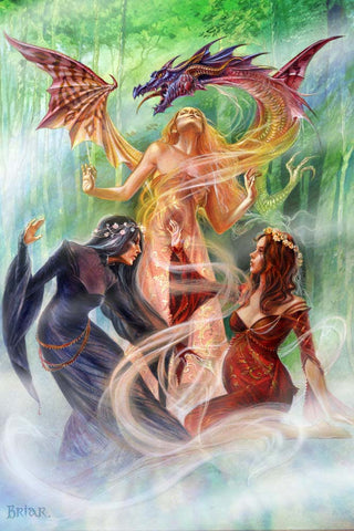 Briar Triple Goddess Summoning The Dragon Card | Angel Clothing