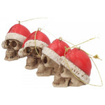Skull Christmas Tree Silent Night Bauble 4.3cm. Set of 12 | Angel Clothing
