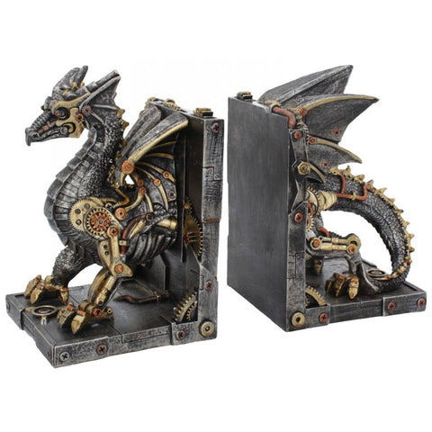 Dracus Machina Bookends Steampunk Dragon 27cm | Angel Clothing