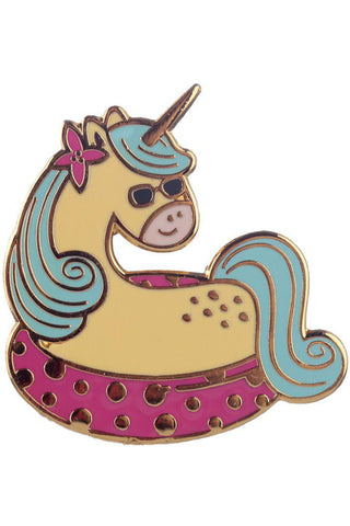 Vacation Vibes Unicorn Enamel Pin Badge | Angel Clothing
