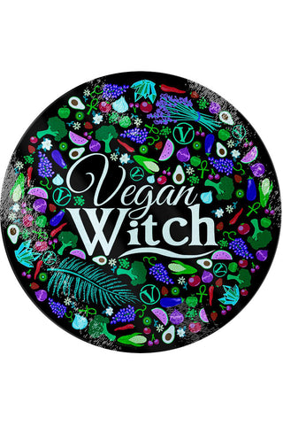 Vegan Witch Glass Chopping Board