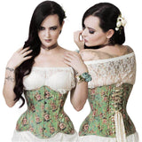 Victorian Inspired Floral Curvy Corset | Angel Clothing