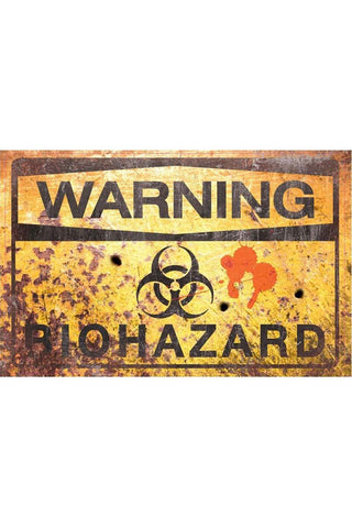 Warning Bio Hazard Sign 43cm | Angel Clothing