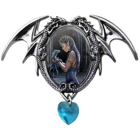 Water Dragon Cameo Pendant Necklace by Anne Stokes EC1 | Angel Clothing