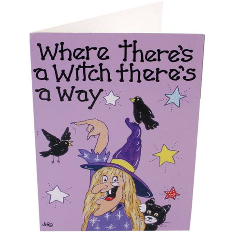 Where Theres a Witch Theres a Way Card | Angel Clothing