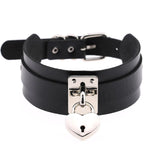 Black Heart Padlock Collar | Angel Clothing