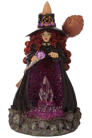 Witches Crystal Cave LED Backflow Incense Burner | Angel Clothing