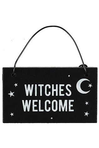 Witches Welcome Witchy Hanging Mini Signs | Angel Clothing