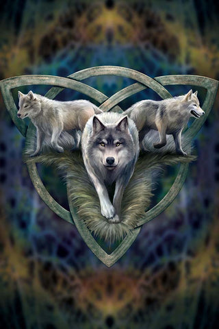 Wolf Trio Card by Anne Stokes | Angel Clothing
