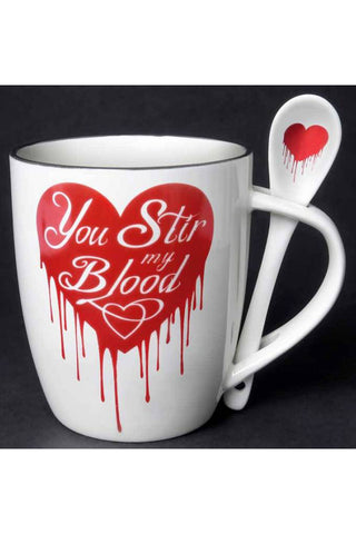 Alchemy You Stir My Blood Mug and Spoon Set | Angel Clothing