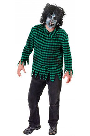 Zombie Mask and Shirt  Fancy Dress Costume - Angel Clothing