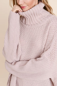 Chunky Cowl Knit Sweater