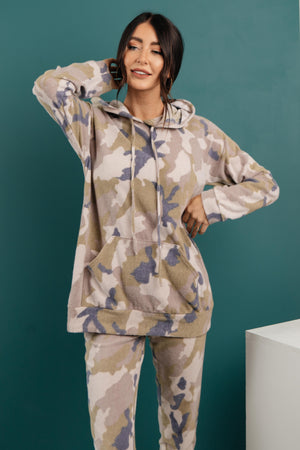 Brushed Camouflage Top