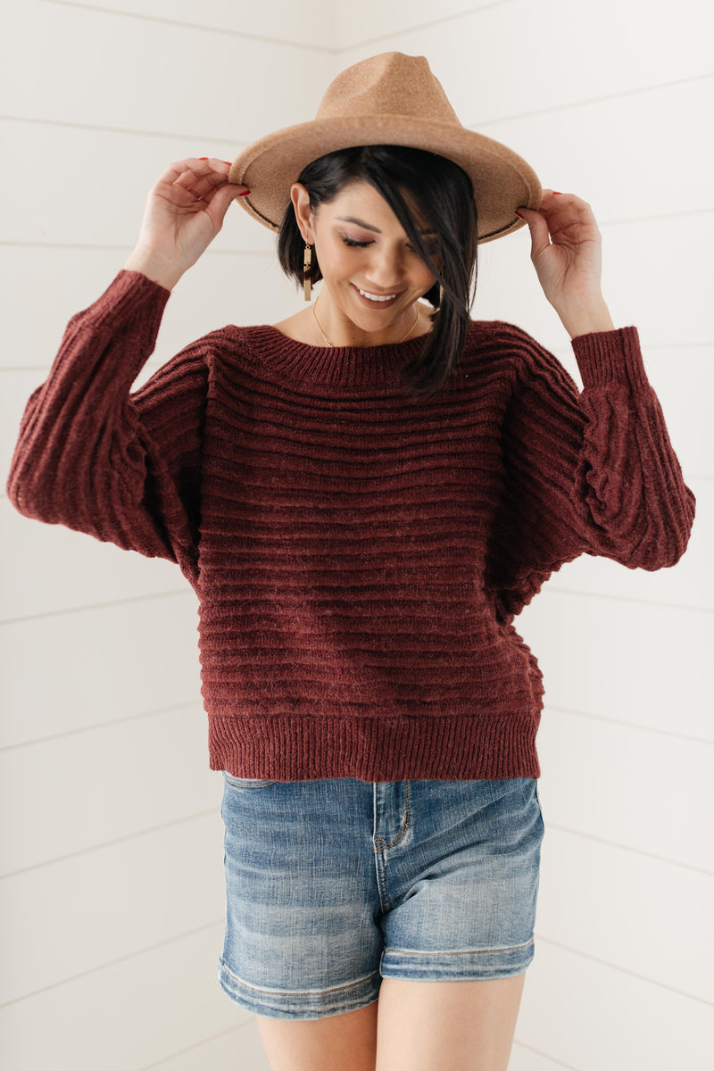 Cozy and Chic Dressed in Wine